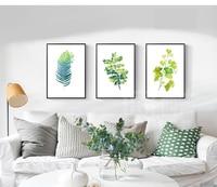 Foglia verde della Tela di Canapa Pittura Stile Nordico Tela Wall Art Immagini Stampa Pittura Per Soggiorno Decorazione Domestica Dropshpping