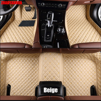 ZHAOYANHUA Car floor mats for Infiniti ESQ Nissan Juke accessories 5D car-styling heavy duty rugs carpet foot case liners (2014- image