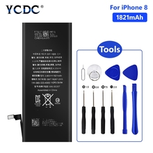 YCDC Lithium Phone Real 3.8V 1821mAh Battery For iPhone 8 8G iPhone8 iP8 Rechargeable Bateria Batteries Free Tools
