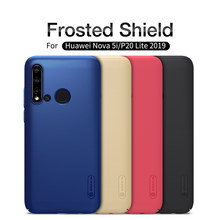 For huawei P20 lite 2019 case cover NILLKIN Frosted shield for huawei Nova 5i case PC hard matte plastic back cover black luxury(China)