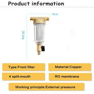 Image 5 - Haute qualité filtres à eau avant purificateur cuivre plomb pré filtre lavage à contre courant enlever rouille Contaminant sédiment tuyau
