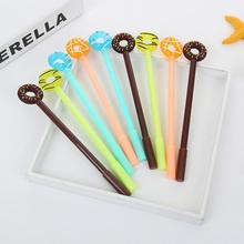 Jonvon Satone 50 adet sevimli kalem tatlı şeker halkası nötr kalem plastik yazma kalemler toptan kırtasiye Kawaii okul malzemeleri