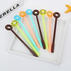 Image 1 - Jonvon Satone 50 adet sevimli kalem tatlı şeker halkası nötr kalem plastik yazma kalemler toptan kırtasiye Kawaii okul malzemeleri
