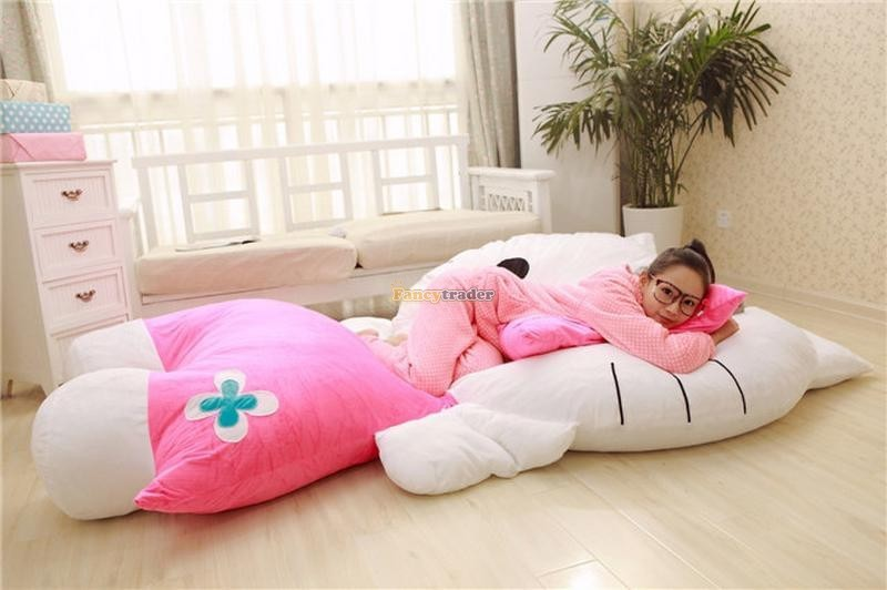 Fancytrader 200cm X 150cm Huge Giant Cute Pink Hello Kitty Tatami Bed Carpet Sofa, Gift For Girls, Free Shipping FT90292 (3)