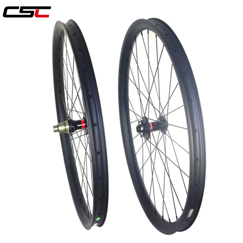 29 MTB XC race hookless 30mm width 25mm tubeless mountain bike carbon MTB wheels with hub