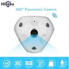 Hiseeu HD 3.0MP WiFi Panoramic Camera 360 Degree e-PTZ Fisheye IP CCTV Camera Video Storage Remote IR-CUT Onvif Audio 43