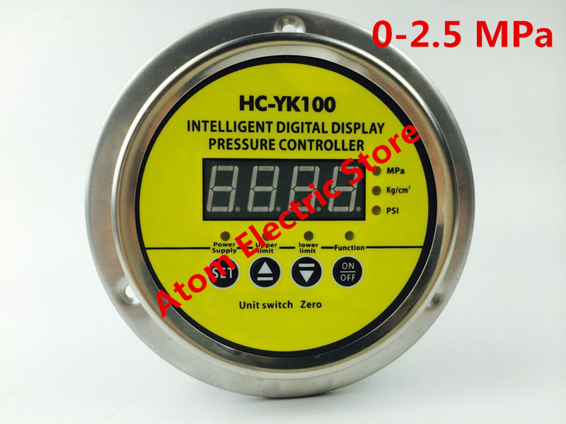 0-2.5 mpa  AC220V  Digital display electric contact pressure gauge digital controller 0 16 mpa ac220v digital display electric contact pressure gauge digital controller