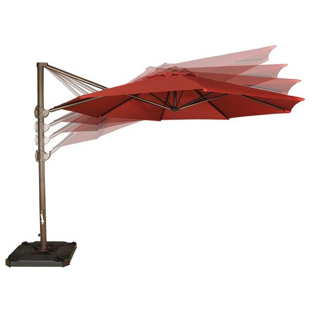 abba patio 11 feet offset cantilever umbrella outdoor patio hanging 11 Foot Umbrella Base