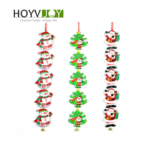 New Year Christmas Gift Ornaments Pendant Bell Santa Claus Snowman Christmas Door Wall Ornament HOYVJOY new alloy gorgeous fashion christmas theme snowman cane santa claus color pendant bracelet bracelet christmas best gift jewelry