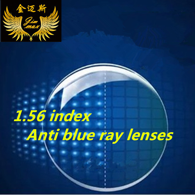 1.56 anti blue ray myopia prescription glasses lenses anti scrach uv400 protection short sight quality thin cr39 glasses lens