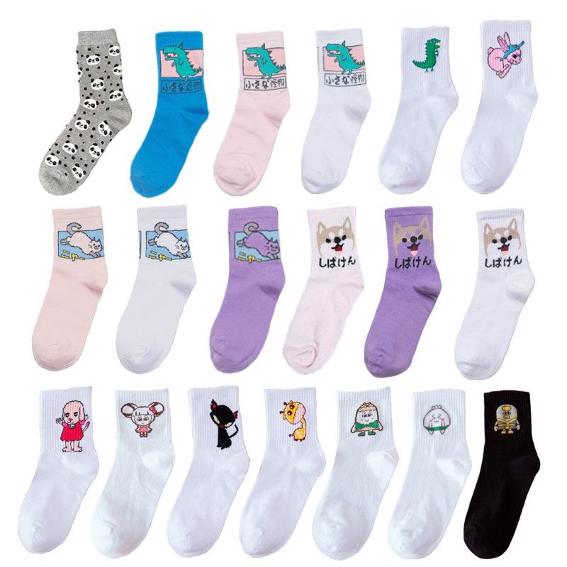 COCOTEKK New Fashion Korean Novelty Dog Rabbit Duck Panda Animal Women Socks happy colorful cotton socks women wedding gift