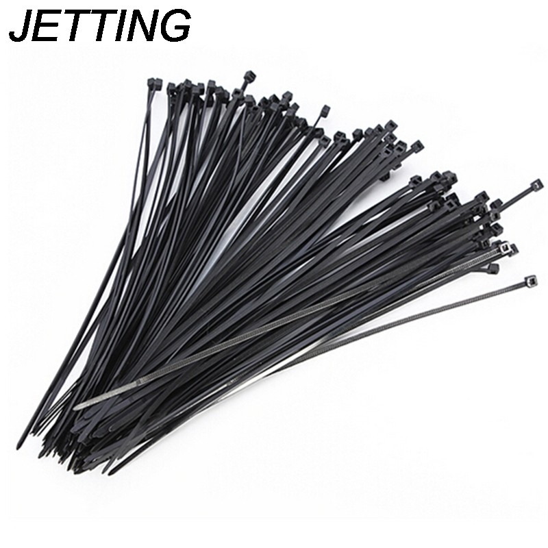 100Pcs/pack 2.5*100mm Black Color Factory Standard Self-locking Plastic Nylon Cable Ties Wire Zip Tie High Quality