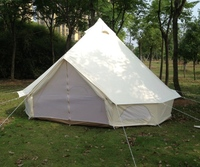 4M 5M Oxford Canvas bell tent wall rolled up for outdoor camping