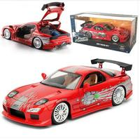 Diecast 1:24 Alloy Car Models Static Vehicle Sports Car mkd2 Collectible Toys for Children Mazda RX7 Rally Racing Car
