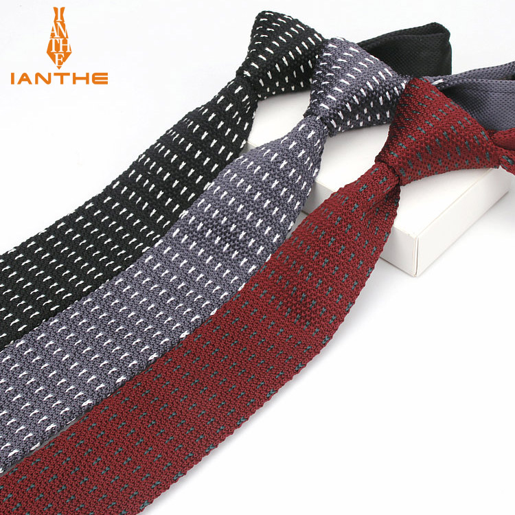 2018 Brand New Skinny Knit Ties For Men Knitted Necktie Wedding Knitting Slim Gravatas Mens Wool Tie Corbatas Vestidos Cravat
