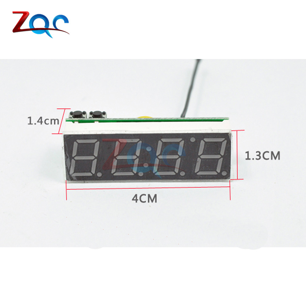 Buy 3 In 1 Ds3231sn Digital Led Time Clock Universal 4 Usb Car Charger Amperemeter Voltmeter Termometer Suhu Temperatur X Dc 12v Temperature Voltage Meter