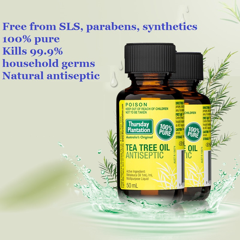 High quality Tea Tree Oil Acne treatment Remove cold flu shrink pore arthritic face care Essential oil Acne remover Massage oil and cold leading in cosmetology wash derived acne treatment face clean red blood massage instrument