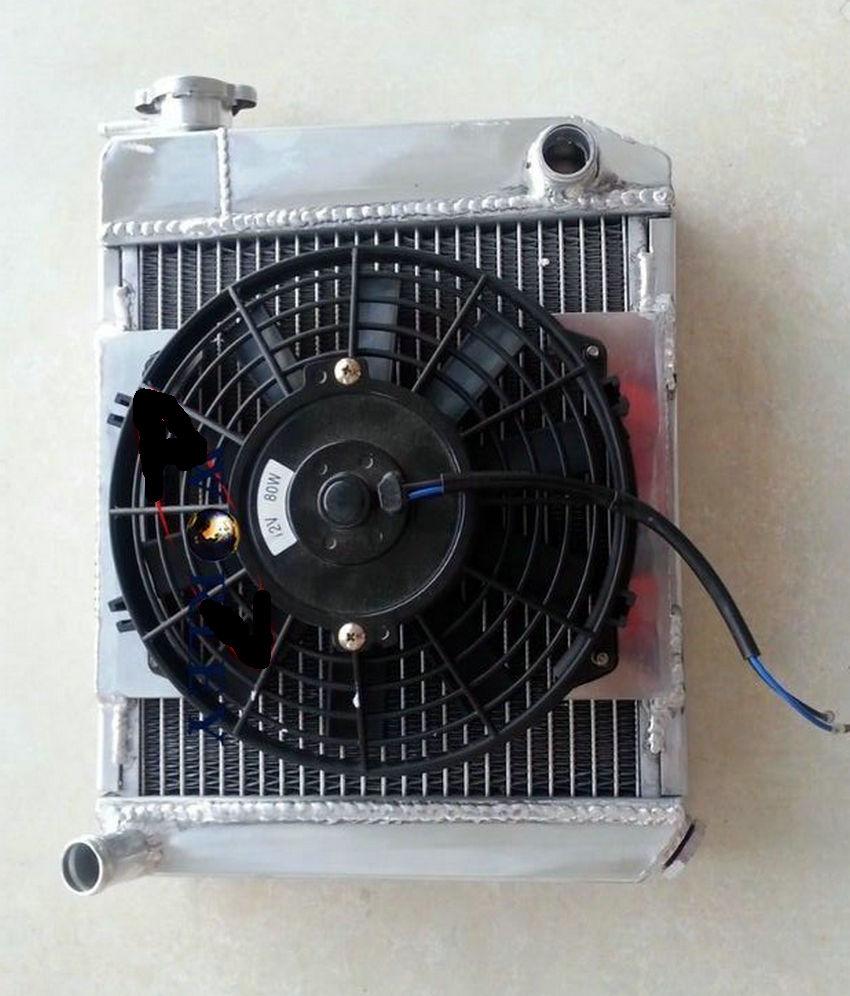 ALUMINUM RADIATOR//MINI COOPER S,CLUBMAN//Leyland//1275GT,850//998//1098 59-96