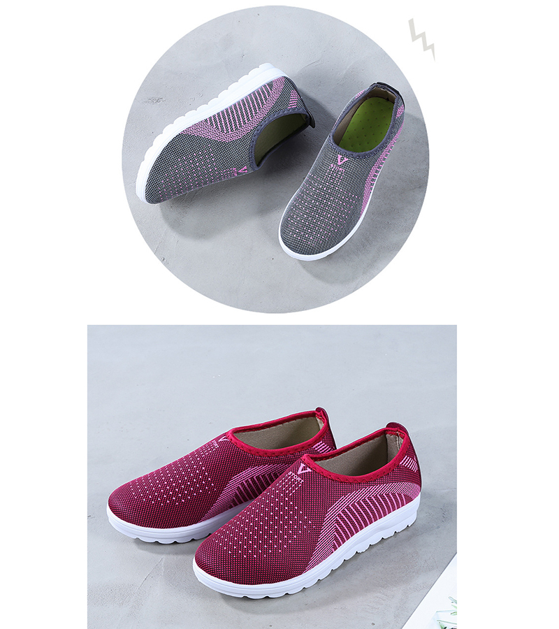 Mesh women sneakers Breathable Slip On casual shoes women fashion comfortable Summer Flat Vulcanize Shoes Zapatos Mujer VT248 (12)