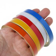 1 Roll Reflective Tape Bicycle Safety Sticker Warning 1cm 5m Bike Colorful Decoration Adhesives Cycling Supplies Accessories