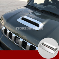 ABS Chrome Front Hood Air Vent Trim Cover 1pcs For Suzuki Jimny 2012 2015