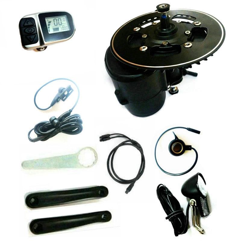 Free Shipping TSDZ2 Midmotor VLCD6 XH18 36 48V 500W 750W TONGSHENG electric bicycle Kit Torque Sensor