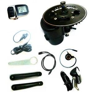 Image 3 - משלוח חינם TSDZ2 Midmotor VLCD6/XH18 36/48V 500W/750W TONGSHENG קיט מומנט חיישן 6V ראש אור כלול