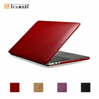 For MacBook Pro 13 Case A1706 A1708 A1989 2018 2017 2016 Leather Flip Cover for Macbook Pro 15 2018 Case A1707 A1990 Fundas