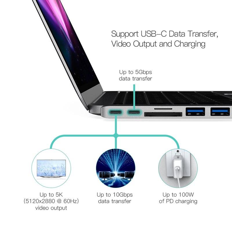 dodocool-Aluminium-Dual-USB-C-Hub-with-2-USB-3-0-SD-TF-Card-Reader-Type