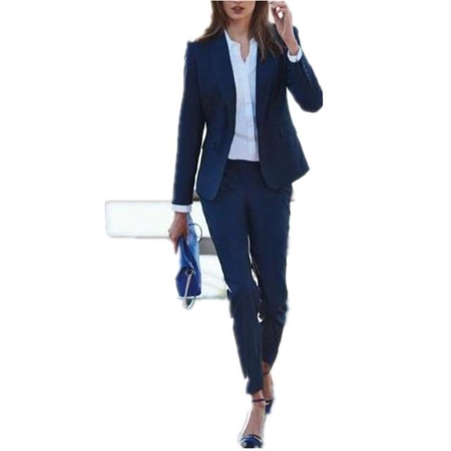 New Custom Made Mulheres Ladies Escritório Ternos Jaqueta + Calça Ternos Formais Nova Quente