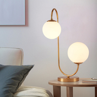 Postmodern Iron Glass Bubble LED Lamp LED Light Table Lamp Desk Lamp LED Desk Lamp For Bedroom Foyer