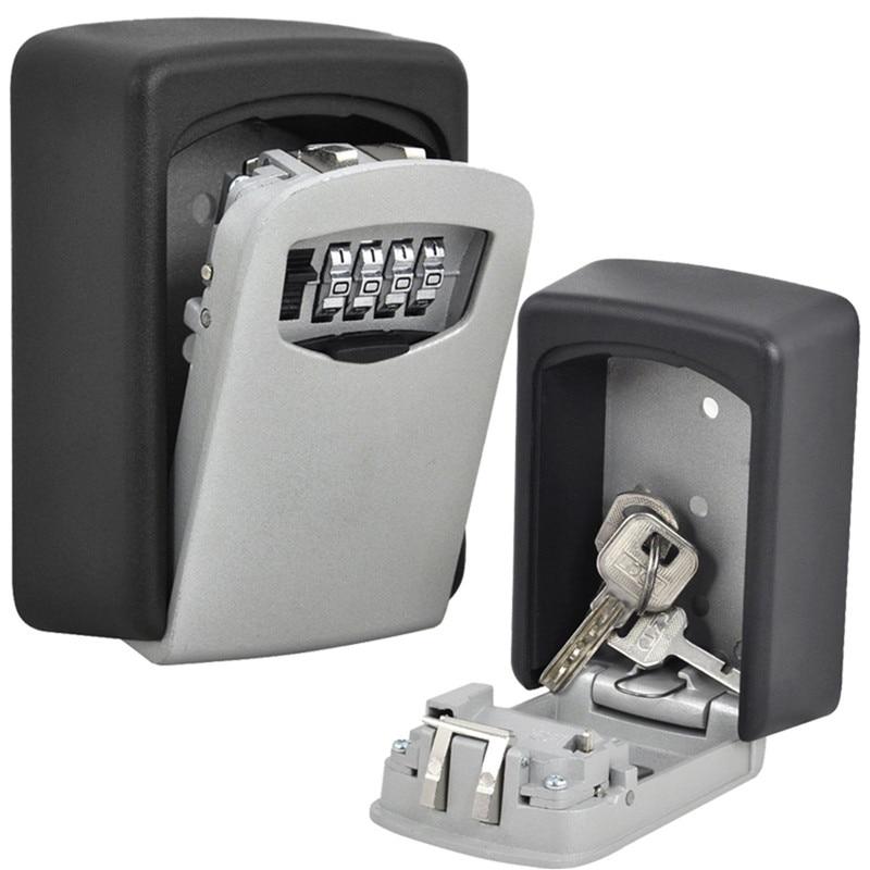 Key Storage Lock Box Wall Mount Holder 4 Digit Combination ...