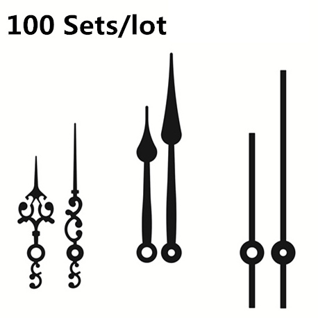 DIY Wall Clock Accessories 100sets Metal Needle Pointer Minute Hour Hand Set Needles Clocks Home Decor Promotion