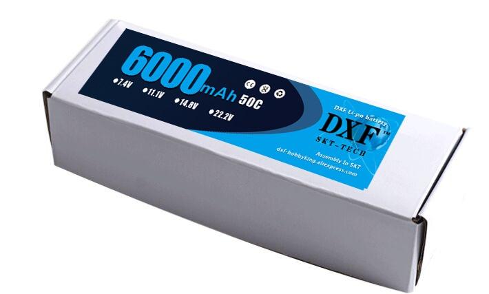 DXF Lipo 22.2V 6000mAh 50C Burst 100C 6S Липо полимерна - Радиоуправляеми играчки - Снимка 5