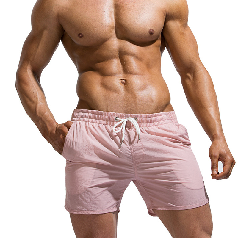 New Season Quick Drying Sports Shorts Men Sleep Bottoms Pure Color Fashion Mens Outdoor Beach Shorts Cozy Male Homewear Pants