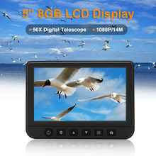 5.0 inch LCD Digital Monoculars Binoculars Camera 50x 1080P Video Photo Recorder Telescope for Watching Free 8GB TF Card
