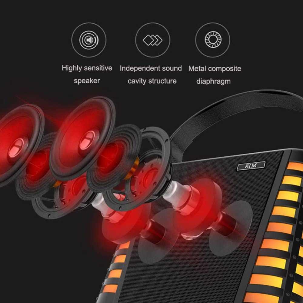 M18 Profissional 2 Microfone 30w à prova d' água Sem Fio Bluetooth Speaker Mic Music Player KTV Cantar Karaoke Microfone de mão