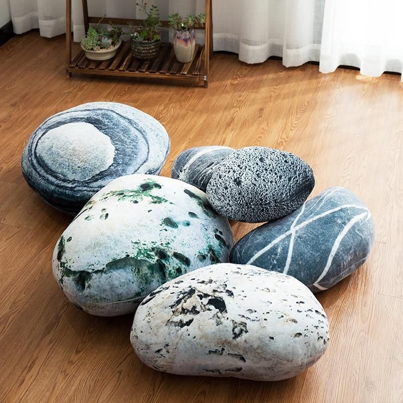Модные DIY моделирования камень Подушка галька Хлопок спинки ленивый диван творческий домашнего декора сцены композиция подушки