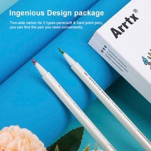 Image 2 - Arrtx AMP 1500 Metallic Color Pens Fine Point & Soft Brush 20 Planner Pens Suitable for DIY Photo Album/Rock Painting