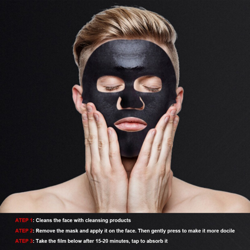 Skin Care Male Moisturizing Mask Hydrating Control Oil Remove Blackheads Pimples Bamboo Charcoal Black Mask New Arrive