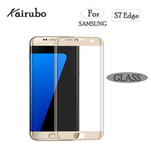 Full 3D Curved Tempered Glass Film For Samsung Galaxy S7 edge 9H Front Protective Screen Protector Coverage