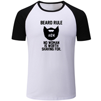 IDzn Beard Rule Behind Every Hot Girl Is A Man With A Beard Print Patchwork Men