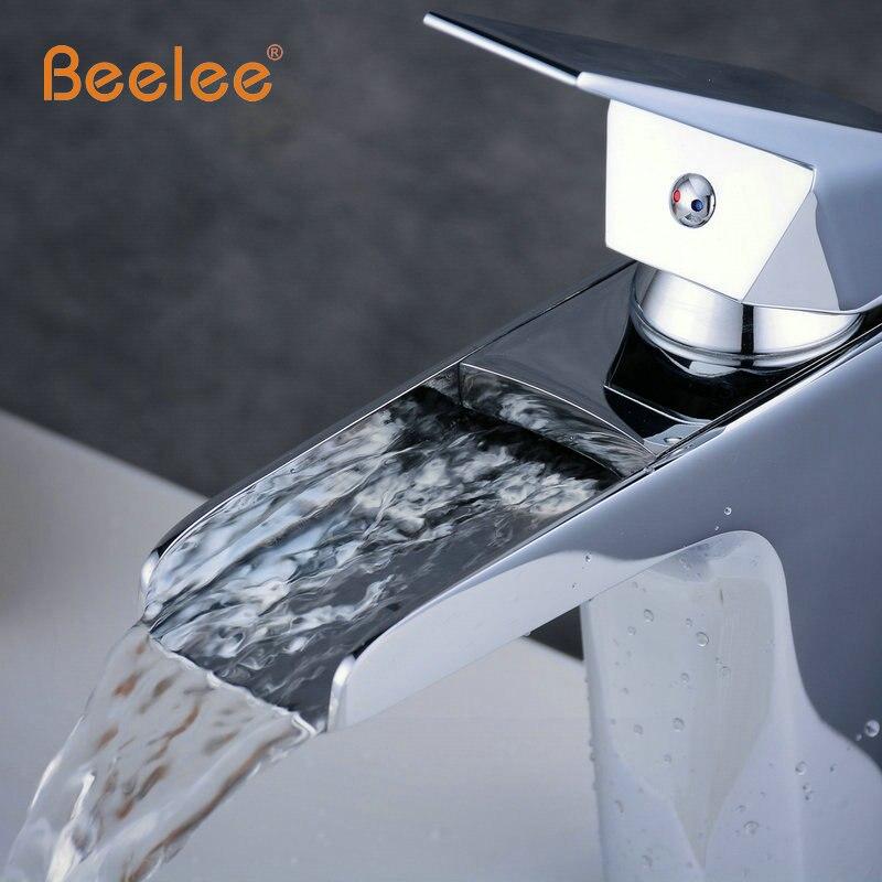 Beelee China Waterfall Sink Faucet Chrome Single Handle Single Hole ...