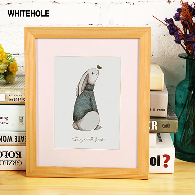 Wood Photo Frame Classic Minimalist Desktop Picture Frame For Hung On The Wall 9x13 10X15 13x18cm Pleixglass Inside Home Decor