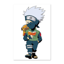 Naruto Kakashi, little boy, reading book, puppy Digital painting DIY, drawing on the cloth by digital