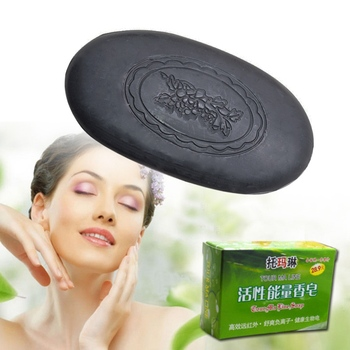 Natural Energy Bamboo Tourmaline Soap For Lady Female Women Face Hand Body Healthy Care Soap Skin Care Z1 Soap