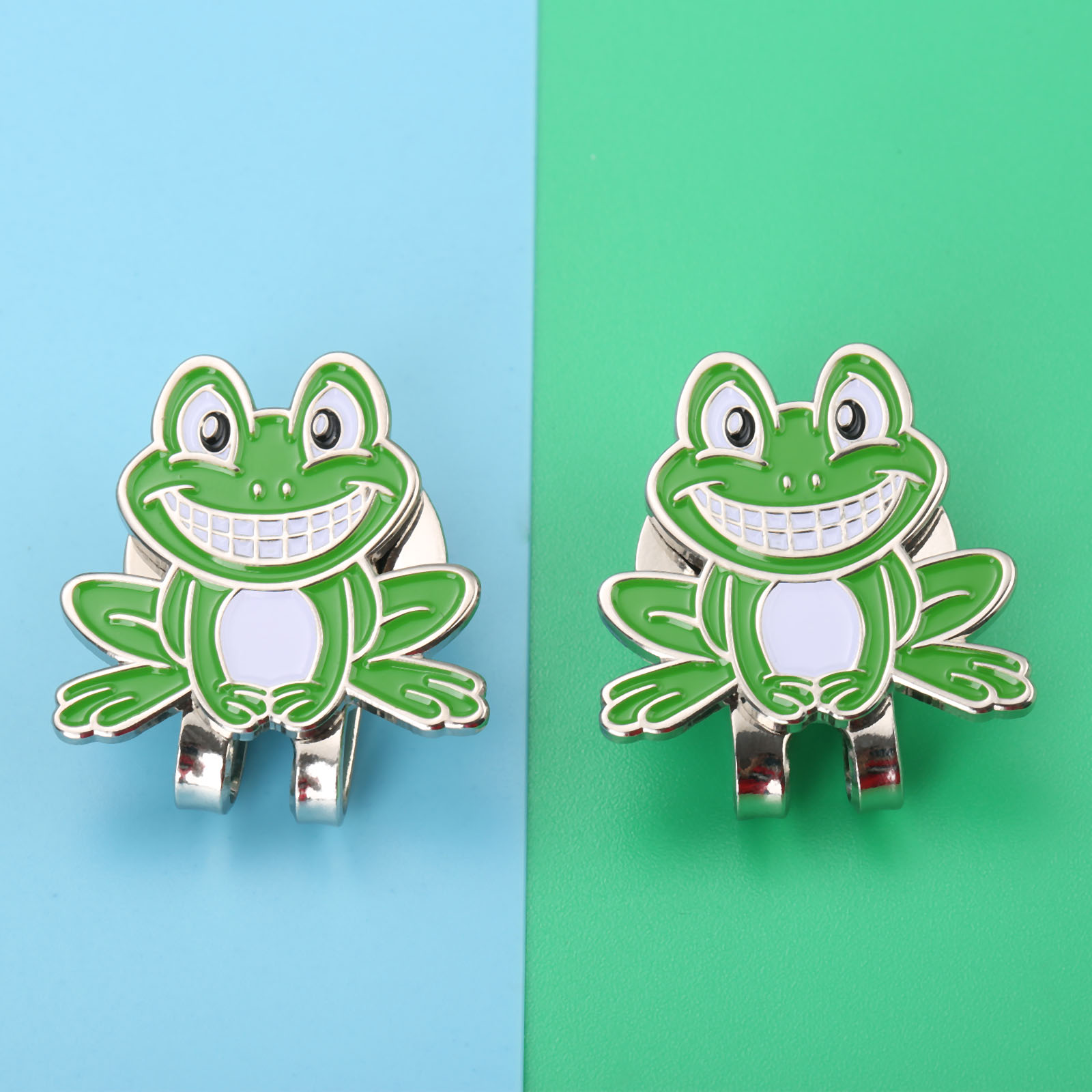 New Arrival Frog Prince Design Golf Ball Marker with Magnetic Golf Cap Visor Clip Alloy Professional Hat Decoration for Golfers