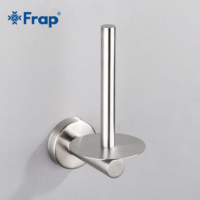 Frap Wall Mount Toilet Paper Holder Stainless Steel Bathroom Kitchen Roll Tissue Towel Accessories Rack Holders Y14004 1