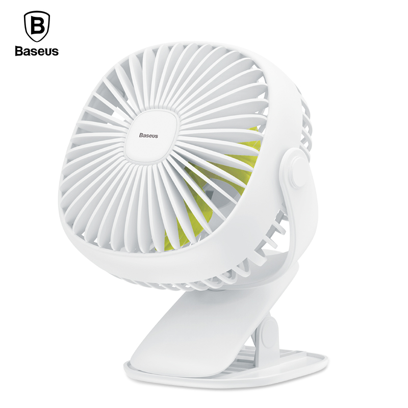 Baseus Mini USB Fan On Desktop/Clip Fan For Office Home Portable Electric Fan 2000mAh Rechargeable Cooling Fan With Lighting цена 2017