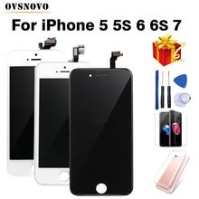 Wyświetlacz LCD dla telefonów iPhone, zamiennik ekranu dotykowego do montażu, jakość AAA+++, do modeli 6, 7, 8, Plus, X, 6S, 5, 5S, SE, prezenty